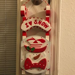 Holiday sled solid wood